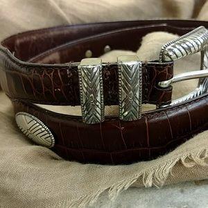 Vintage leather concho belt